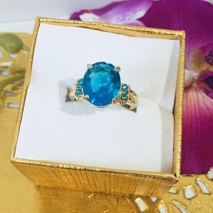 Blue ring size 6